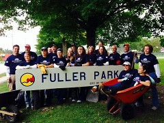 Friends of GR Parks working in Fuller Park