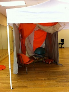 Design and construction is still underway of the story fort before its first appearance this Thursday