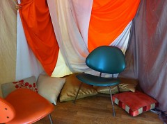 Setting the stage for our stories to be told in the story fort