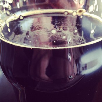 close up of founder's oatmeal stout.