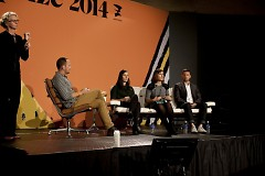 Panelists discuss art and tech with moderator Paul Moore