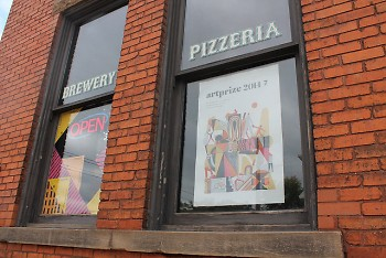 The Mitten Brewing Company, located in the historic Engine House No. 9, is host to 12 ArtPrize entries.