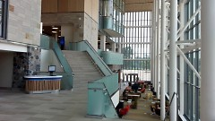 The lower concourse of the new Mary Idema Pew Library at the GVSU Allendale campus.
