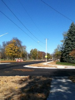 New sidewalks between Boltwood and 3 Mile Rd.