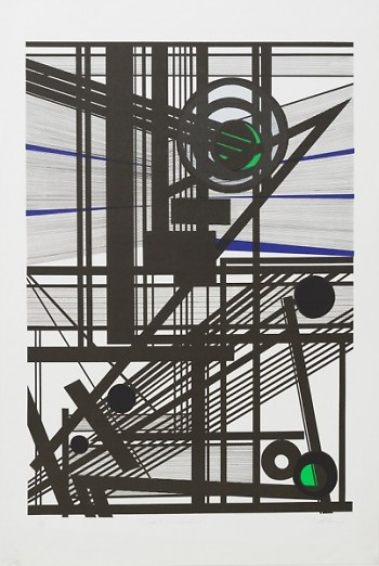 Mavis Pusey (American, 1928-2019). Impact on Vibration, c. 1968. Color screen print on paper, 33 x 22.8 inches.