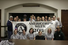 The service weekend in GR is the closing event of Michigan's AmeriCorps Week.
