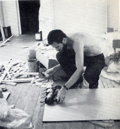 """Allan Kaprow works on one of his Happenings events entitled """"18/6."""""""