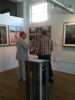 Jerry Saltz visits with Chris Cox at GASPARD