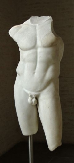 Torso of Apollo, Roman copy after a statue of the school of Polykleitos, ca. 430–420 BC