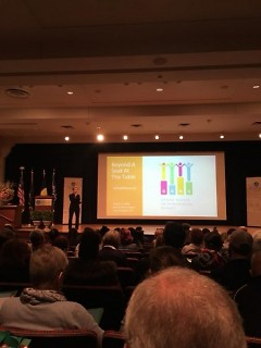 Mayor Bliss speaks at the fourth annual Grand Rapids Neighborhood Summit on Saturday, March 3, 2018.
