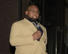 Wesley Watson announcing that he had put his name in to be appointed to a vacant seat on the Forest Hills school board
