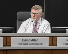Third Ward Commissioner David Allen at his last city commission meeting