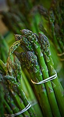 Asparagus is currently in season at the market.