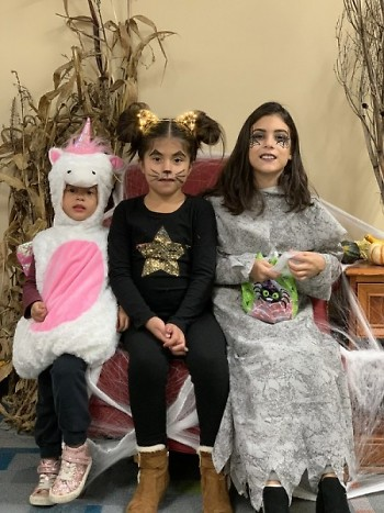 Party-goers came to events dressed for the occasion, with a wide range of cuteness and spookiness abounding