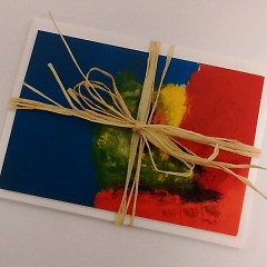 "Notecard prints of Chris's piece, ""Chris Art 2"" - available for purchase on the apprentice store"