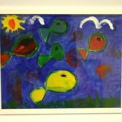 "Michael's piece, ""Sea of Fish"""