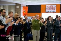 Crowd applauding the superintendent's speech last year