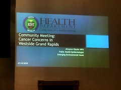 Slide at Westside cancer concerns meeting