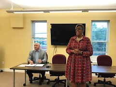 Daniel Kruger and Kim Trent from Promote the Vote