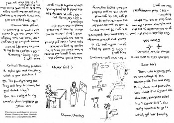 Clever Girl, one of the one-page zines discussed during the radio interview.