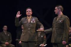 "Colonel Nathan Jessep takes the stand in ""A Few Good Men""."