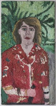 Self-Portrait, 1987 oil on wood   40 x 20 in.