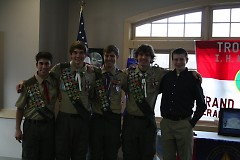 Alex Putkovich and fellow Scouts