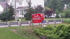 Amash sign replaced