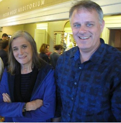 Amy Goodman with co-author Denis Moynihan at Wealthy Theatre