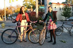 Anel and Jennifer with their bikes