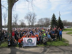 Volunteers celebrating Arbor Day in 2013