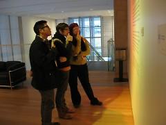 Me (center) on an art beat trip to the GRAM
