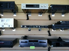 The Corner Record Shop also provides stereo equipment.