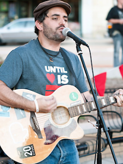 Musician and Pastor Lenski Ian Llorens Monteserin wears his support for the movement at a summer performance.