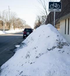 Bike lane along Jefferson Avenue.