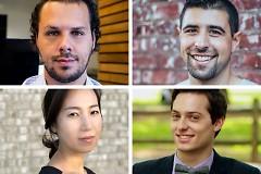 GR Symphony ArtPrize 10 entries are by (clockwise from upper left) Emmanuel Berrido, Tyler Eschendal, Daniel Leo and Jiyoung Ko.