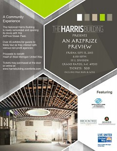 Come preview the ArtPrize artists at the Harris Building! Including Boys & Girls Clubs!