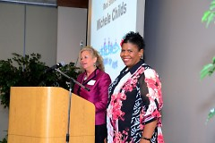 Streams of Hope director Barb Nauta and client Michele Childs share their experience with the Food Bank.