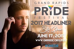 Billy Gillman to headline at the 2017 Grand Rapids Pride Festival.