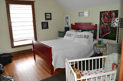Birthing suite bedroom