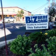 Bizarre Bazaar sign in Eastown