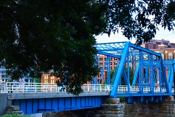 The Blue Bridge in downtown Grand Rapids.