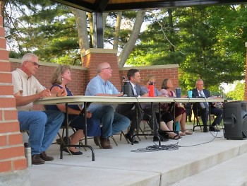 The Allendale Township Board at the town meeting on June 30.