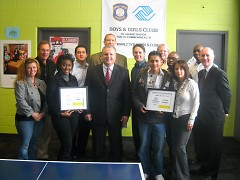 Youth of the Year winner and runner-up with Boys & Girls Clubs of Grand Rapids' Board of Directors.