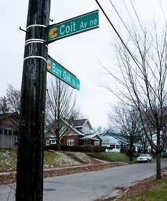 Burr Oak was called Seventh St. until it was re-named in 1892. It is only one of many area streets that changed names.
