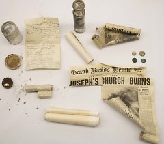 Two time capsules were found in the original church cornerstone.