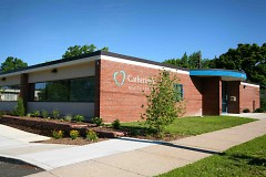 Catherine's Health Center is located at 1211 Lafayette Ave. NE, on the St. Alphonsus Parish campus.
