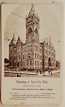 A card commemorates the opening of the new Grand Rapids City Hall