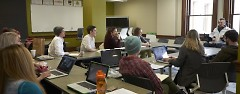 KCDS class in January with speaker Bob Coombs, KCAD alumni.
