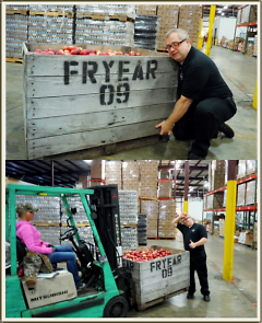EatGR founder Chris Freeman learns firsthand the value of a working forklift.